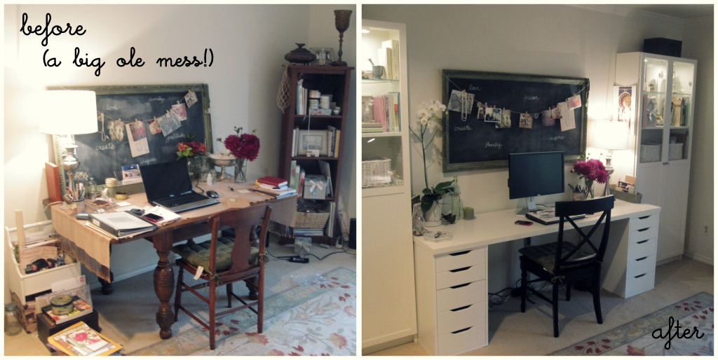 Home Office Makeover Entrancing Of Office Makeover Before and After Images