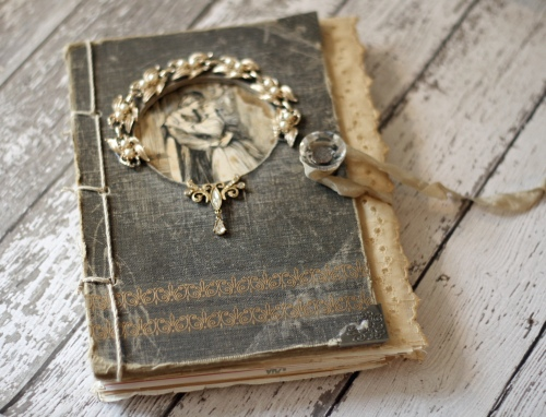 How To Make A Vintage Book Cover ~ Inspired by the creatively made e course