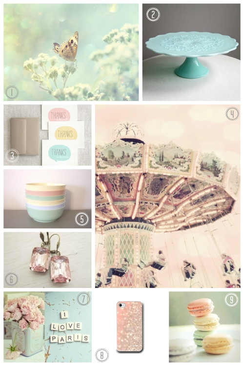 Pastels for Spring with numbers