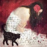 Red Petals on White, 2015 Digital Art
