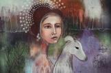 Madame Violet and the hound, 2015 Digital art