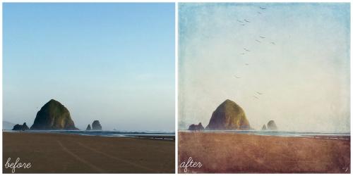 before after camera craft landscape
