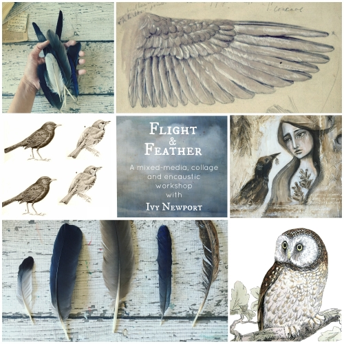 Flight & Feather with text