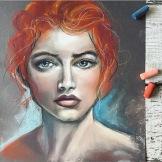 Abigail, 2016 Pastel on Paper