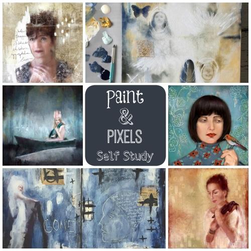 paint & pixels self study button