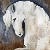Spirit Horse, 2016 Mixed Media Painting on Canvas